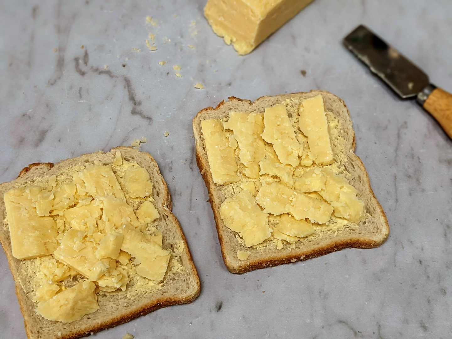 cheese on bread